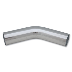 "Polished Aluminum 45-Degree Tubing, 1.75"" Diameter, Vibrant Performance, VIB-2157, 2157"