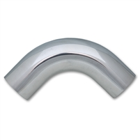 "Polished Aluminum 90-Degree Tubing, 1.75"" Diameter"