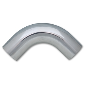 Vibrant 2887 Polished Aluminum 90-Degree Tubing, 2.25 inch Outside Diameter