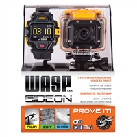 WASPcam 9902 GIDEON Action-Sports Camera and Live Viewing Display (LVD) Wrist Remote Package