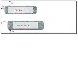 "Double Window Check Envelope - Size 10 (4 1/8"" X 9 1/2"")"