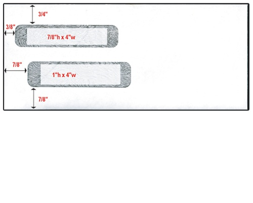 Double window check envelope size 10 4 1 8 x 9 1 2 for 10 window envelope size