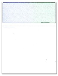 Top Form Laser Check - Blue-Green, 1 Perforation, with Control #