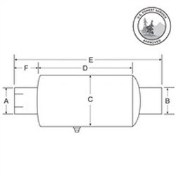 Nelson Global Products muffler, part number 49125A.