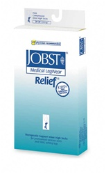 Jobst Relief- Thigh high 30 - 40 mmHg compression stockings