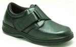 Orthofeet 510 | Men's Black Orthofeet Therapeutic Shoes w/ Easy Strap