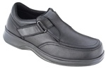Orthofeet 517 - Men's Black Slip-On with Strap