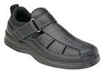 Orthofeet 571 Men's Black Melbourne Sandals