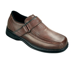 Orthofeet 587 - Men's Dressy Oxford Strap - Brown