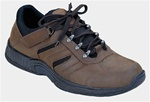 Orthofeet 644 - Men's Brown Tie-less Hiking Sneakers