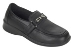 Orthofeet Chelsea 817 Women's Black Napa Leather Slip-On Shoes