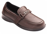 Orthofeet Chelsea 818 Women's Brown Napa Leather Slip-On Shoes