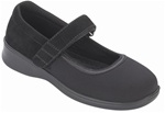 Orthofeet Springfield 827 Women's Black Stretch Mary Jane Shoes