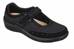 Orthofeet Chattanooga 851 Women's Black Mesh Mary Jane Shoes