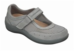 Orthofeet Chattanooga 853 Women's Grey Mesh Mary Jane Shoes