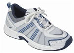 Orthofeet Tahoe 910 Women's White & Blue Athletic Tie-less lace Shoes