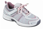 Orthofeet Tahoe 916 Women's White & Pink Athletic Tie-less lace Shoes