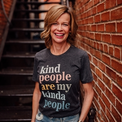 Kind People Are My Kinda People... Vintage Boyfriend Tee