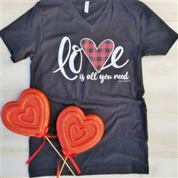 Love Is All You Need..Vintage Boyfriend V-neck Tee