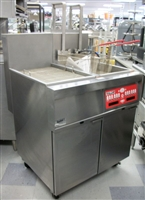 USED Vulcan Fryer w/ Basket Lift, Computer & Bread and Butter Cabinet Model: 2GRC45