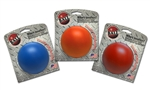 "**TEMPORARILY UNAVAILABLE** HUETER TOLEDO VIRTUALLY INDESTRUCTIBLE BALL RETAIL PACK WITH HEADER CARD - 3""  (ASSORTED COLORS)  UPC 095467010037 3.13"