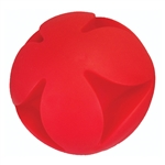 "**TEMPORARILY UNAVAILABLE** HUETER TOLEDO SOFT-FLEX® HEAVY DUTY SQUEAKER TOYS BEST CLUTCH BALL - 7"" - RED  UPC 095467057001 8.72"