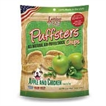 ***TEMPORARILY UNAVAILABLE*** LOVING PETS PUFFSTERS 3 OZ. APPLE AND CHICKEN CHIPS (6 PER CASE, $2.76 EACH)  UPC 842982051003 ***TEMPORARILY UNAVAILABLE***