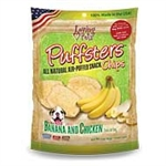 ***TEMPORARILY UNAVAILABLE*** LOVING PETS PRODUCTS 3 OZ. PUFFSTERS BANANA AND CHICKEN CHIPS (6 PER CASE, $2.76 EACH)  UPC 842982051102 ***TEMPORARILY UNAVAILABLE***