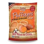***TEMPORARILY UNAVAILABLE*** LOVING PETS PRODUCTS 3 OZ. PUFFSTERS SWEET POTATO AND CHICKEN CHIPS (6 PER CASE, $2.76 EACH)  UPC 842982051201 ***TEMPORARILY UNAVAILABLE***