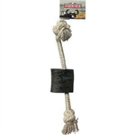 "QT DOG 12"" BUFFALO TUGZ HORN ROPE DOG TOY  UPC 671963015334"