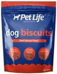SUNSHINE MILLS 4/15 OZ. PET LIFE BEEF BASTED DOG BISCUITS  UPC 041746919195