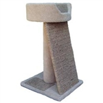 "WADE'S CAT TREES MODEL SPVB 18"" X 16"" POST 24"" W/BED  UPC 856825001230"
