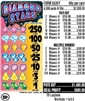 $250 TOP - Form # 5535Y Diamond Stars 50 Cent Ticket