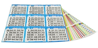 Bingo Collated Paper - 9 ON