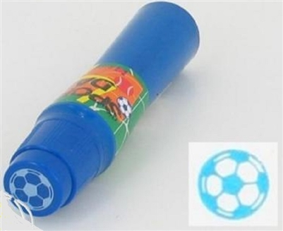 Soccer Ball Imprint Blue Bingo Dauber