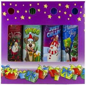 Christmas Holiday 4-Pack Gift Box Set