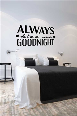 Wall Decals  - Kissing Me Goodnight
