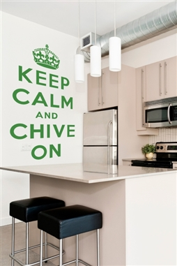 theChive Keep Calm and Chive On Wall Decal