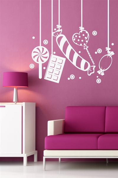 Wall decals balloon candy for Candy wall mural