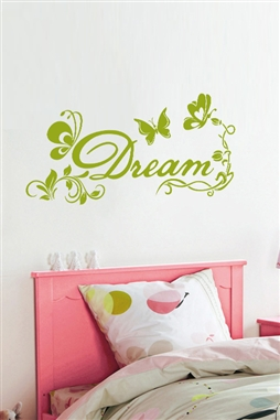 Wall Decals  - Floral Butterfly Dream