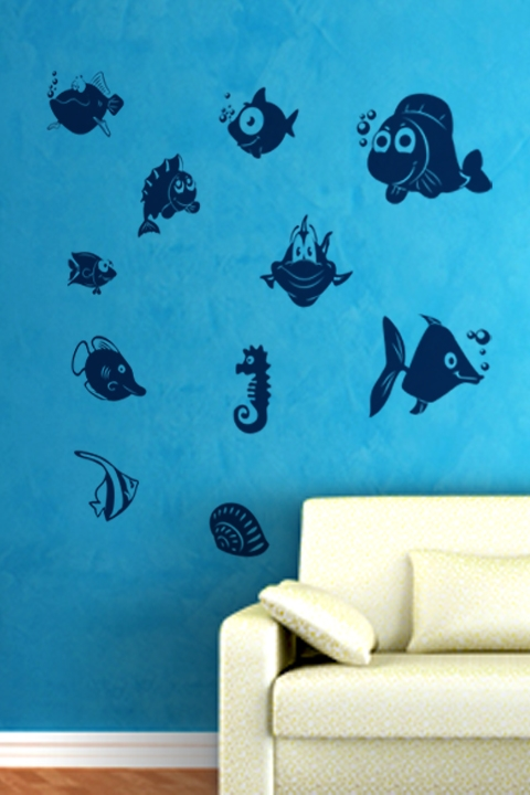 wall decals fish walltat com