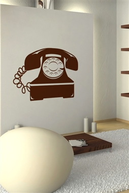 Rotary Telephone Vintage Wall Decals