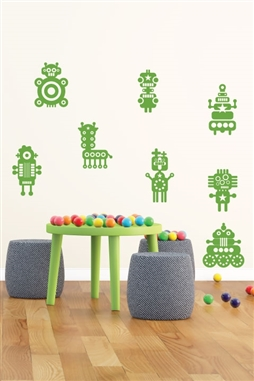 Robot Crossing Kids Wall Decals