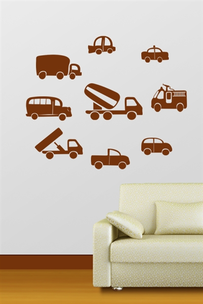 Car Collection Kids Wall Decals