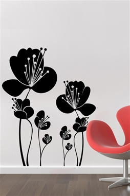 Wall Decals  Lovely Flowers 1