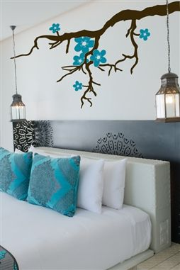 Wall Decals  Branch with Flowers
