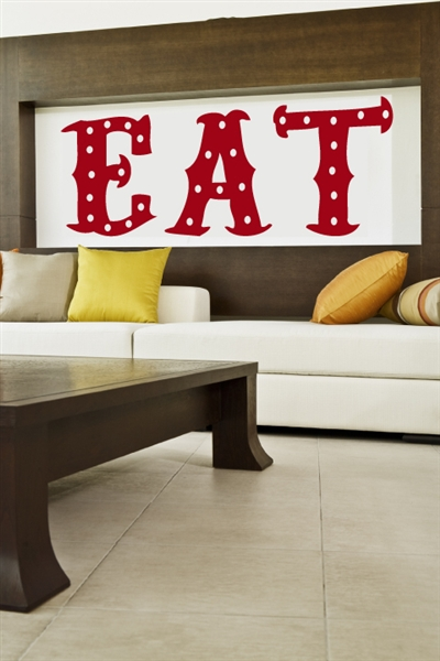 Wall decals dining room eat for Dining room wall decals