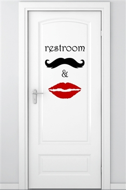Wall Decals Restroom Graphic