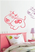 Pink Cow Wall Decals