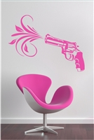 Pink Pistol Wall Decals